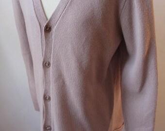 Vintage Bill Blass Pale Pink Button Down Sweater