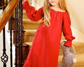 Moving Sale Custom Listing for Andrea Davis 3 Red Flannel Nightgowns Long Sleeve