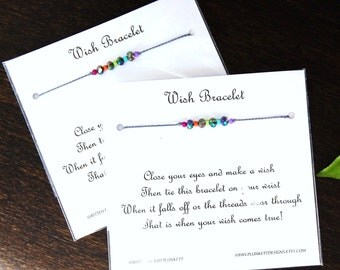 MY HOPE - Set of Two Rainbow Wish Bracelets