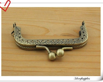 3 inch (7.5cm)  antique bronze purse frame, bag frame (purse making supplies) K20