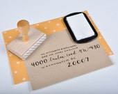 Custom Calligraphy Return Address Stamp for Wedding Invitations and Holiday Mail
