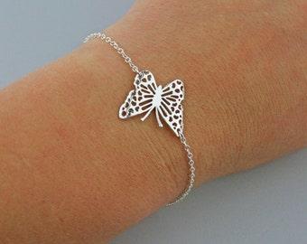Sterling Silver Filigree Butterfly Bracelet