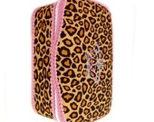 Cheetah baby wipes box and bling pink crown baby nursery wipes cases animal print baby gift best girl baby shower present bling baby gift