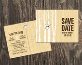 Rustic Save the Date – Trees and Heart Save the Date - Outdoor wedding,  Fall wedding or Barn wedding - Save the Date Card