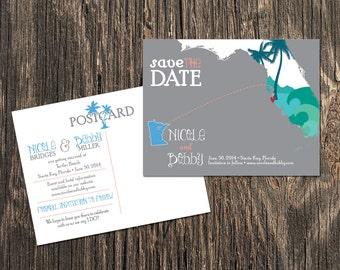 Siesta Key Florida - Save the Date - Destination Wedding