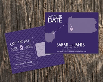 Pennsylvania – Save the Date – Pittsburgh, Allentown, Bangor Destination Wedding – Wedding Save the Dates