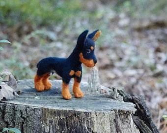 Needle Felted Dog Custom Miniature Pincher