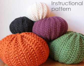 Basic knit pouf pattern