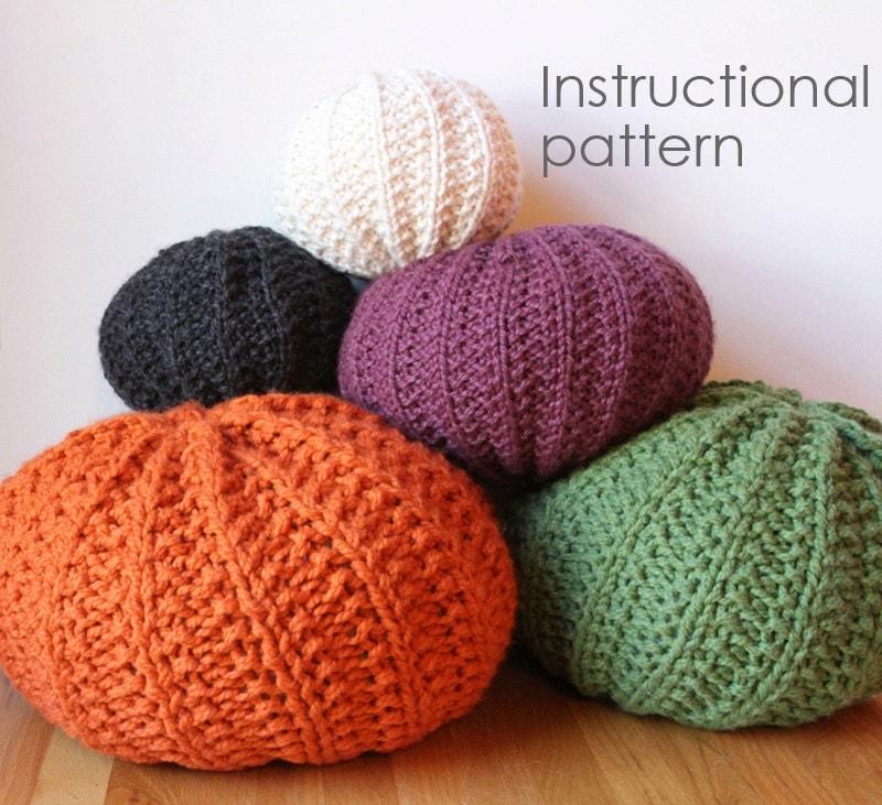 Knitting Pattern Pouf : Basic knit pouf pattern by caracorey on Etsy