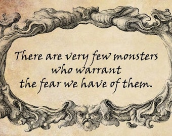 gargoyle frame fear quote png Digital stamp Image Download words text typography graphics for cards t shirts pind buttons etc