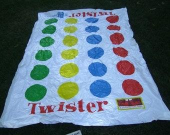 Vintage Twister Game - 1966 Milton Bradley Twister Game - Twister Game Mat and Spinner - Vinyl Game Mat - Twister Game - Kids Game