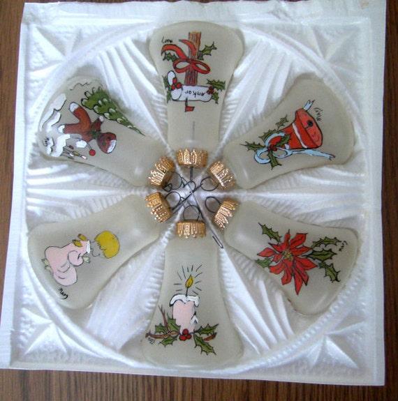 Vintage Christmas Decorations Mouse Carolers Set Jasco: Vintage Krebs & Sohn Glass Bell Ornaments In By Carriesattic