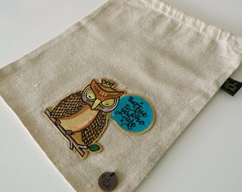 Owl King Drawstring POUCH