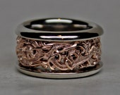 Viking Gripping Beast Ring in 14K Red and White Gold Reserved for Kelly