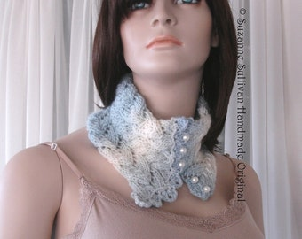 Knitting Pattern, Precious Button Cowl pdf, Knitted Cowl pdf, Lace and Cable Cowl pdf, Neck Warmer pdf, instant download PDF