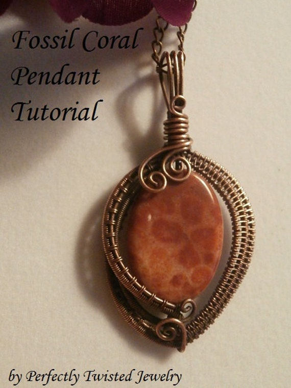 Perfectly twisted handmade wire wrapped beaded and gemstone jewelry a new tutorial wire wrapped pendant beginner to intermediate wire weaving jewelry project aloadofball Image collections