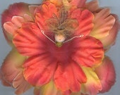 Deluxe Redhead Flower Fairy with Orange and Yellow Petals