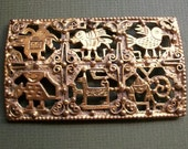 RESERVED - Do Not Buy Exotic Peruvian Art Brooch