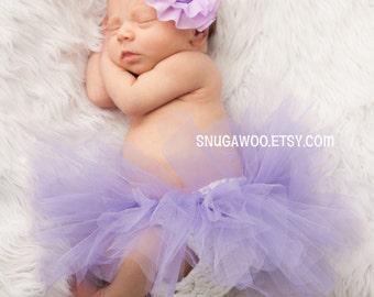 Lavender Tutu Set, Newborn/Infant Baby Girl Tutu WITH headband, lavender tutu, newborn photo prop, baby girl, baby shower gift, newborn