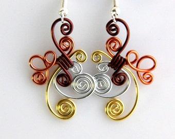 Cute Loop De Loop Dangle Earrings