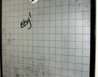 Black Graph .. Magnet Dry Erase Steel Memo Board / housewarming /office organize / friend gift / home decor /decorative art / magnets / desk