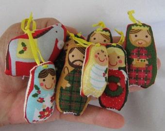 Christmas Ornament Set Nativity Scene With Storage Bag