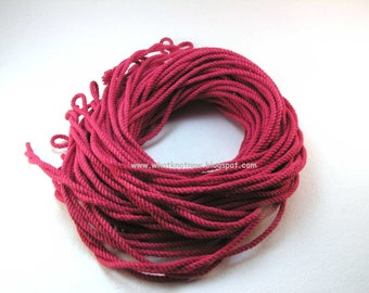 bulk cotton cord in natural white and hand dyed colors craft supply twisted cotton string