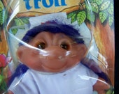 Vintage Retro Toy 1986 Dam Norfin Troll Doll in Original Packing Nurse Troll Thomas Dam Toys from the 1980s