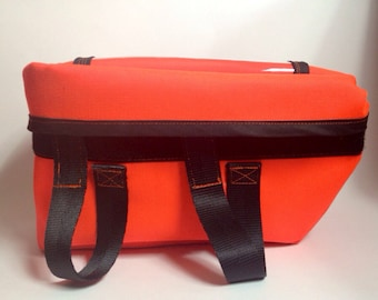 High Vis Orange Cordura Front Rack Cycling Bag