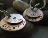 Couple set of Lucky Us Keychains,  Anniversary gift, 7th Wedding anniversary, Partners gift, Wedding gift, Bff gift