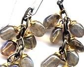 Labradorite Earrings. Grey Earrings. NEW Line. Sterling Silver Ear Wire. Handmade Jewelry by AnnaArt72