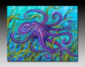 Ready to Hang, Octopus, Ceramic Tile Wall Art