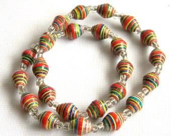Paper Bead Jewelry - Kids NEON Necklace - #1269
