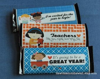 Teacher Appreciation Candy Bar Wraps / Beginning of the School Year / Hershey Candy Bar Wraps / Teacher Recognition