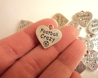 Football Crazy - Set of 4 charms