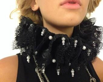 Elizabethan  Ruff  - Black Queen from Sarah by CostumeRenaissance