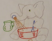 He is Cooking  from Memory – Dish Towel