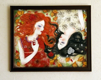 Limited Edition Print - Snow-White and Rose-Red 6/10