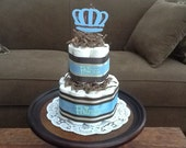 Little Prince Baby Shower Diaper Cakes Centerpieces other colors and sizes too two tier