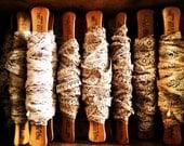 Vintage Lace - Craft Supplies - Antiqued - (8 yards) - Flat Spool - xo, j&L (LAC 103)