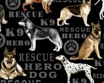Hero Dogs Benartex Kanvas collection