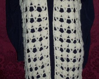 Boho Bohemian VIntage 60s Crochet Long Vest