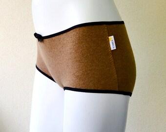 Cashmere hipsters panties, wool underwear, handmade underwear