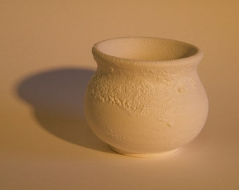 White Textured Pot