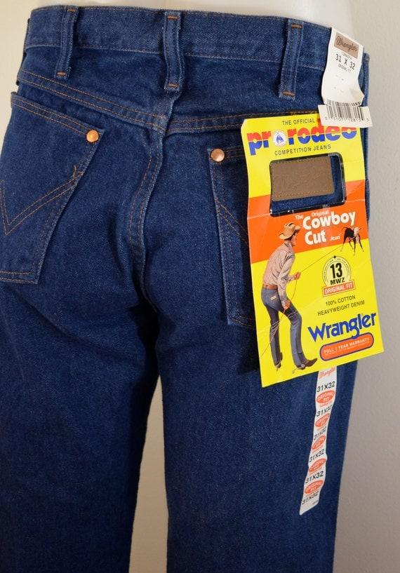 vintage wrangler cowboy cut jeans 31 x 32 by ilovevintagestuff. Black Bedroom Furniture Sets. Home Design Ideas
