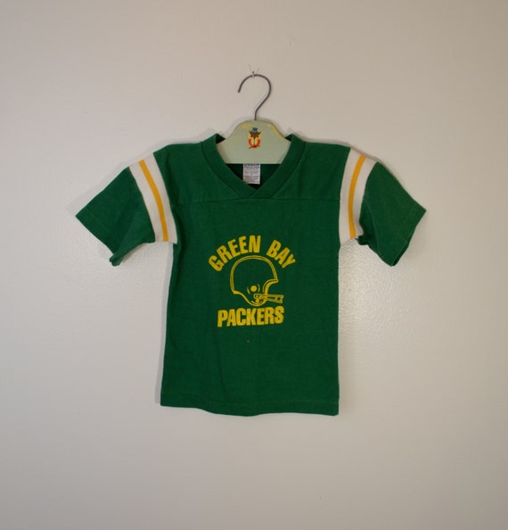 Vintage Green Bay Packers Kids Jersey T Shirt By