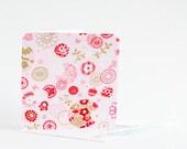 Fabric Greeting Card - Japanese Blossom