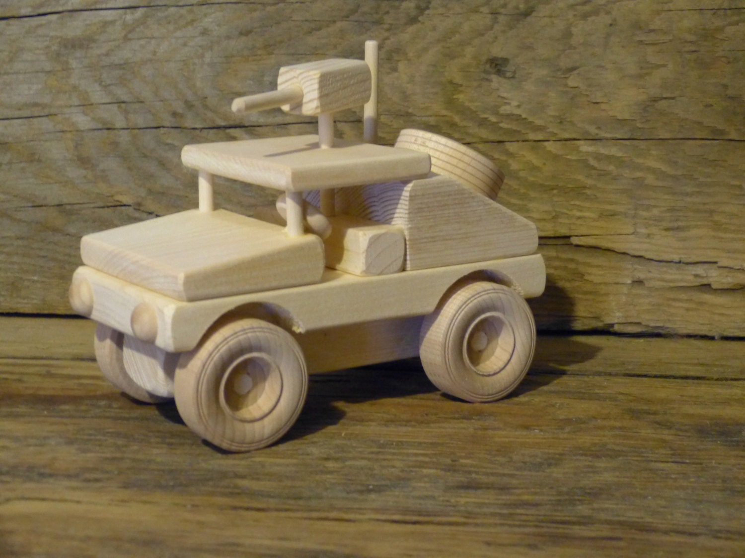 Military Vehicle Toys For Boys : Handmade wood toy humvee hummer truck wooden toys jeep