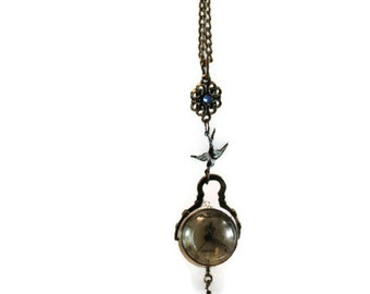 Long Orb pocket watch necklace