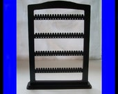 Earring Holder Jewelry rack Organizer  jewellery   STAND LARGE display storage BASE 80 pair black